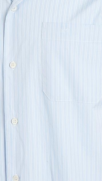 Marni Distressed Striped Poplin T-Shirt