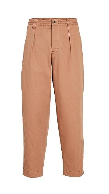 Marni Gabardine Elastic Waist Trousers