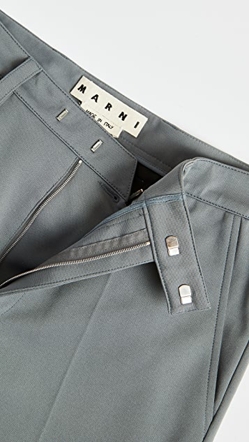 Marni Techno Jersey Straight Fit Trousers