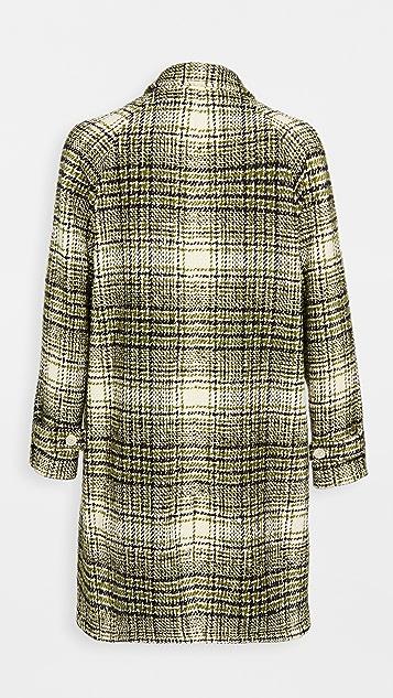 Marni Tweed Check Oversized Coat
