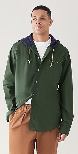 Marni - Hooded Cotton Overshirt