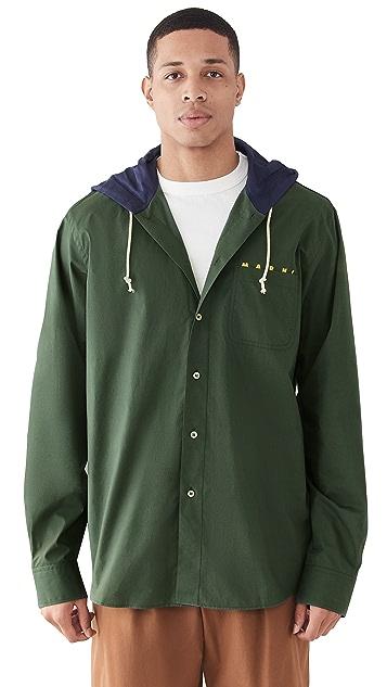 Marni Hooded Cotton Overshirt
