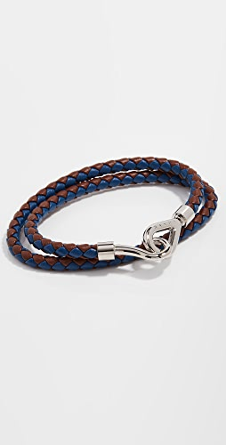 Marni - Double Wrap Leather Braided Bracelet