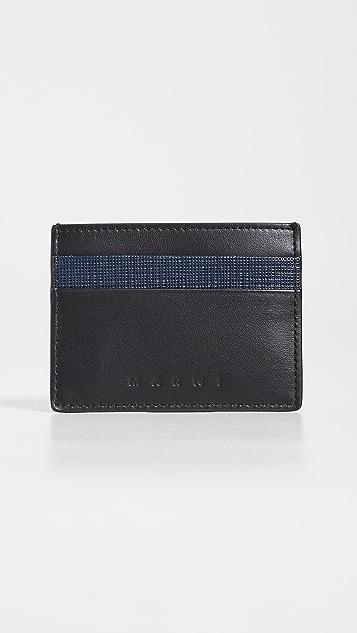 Marni Leather Credit Card Holder