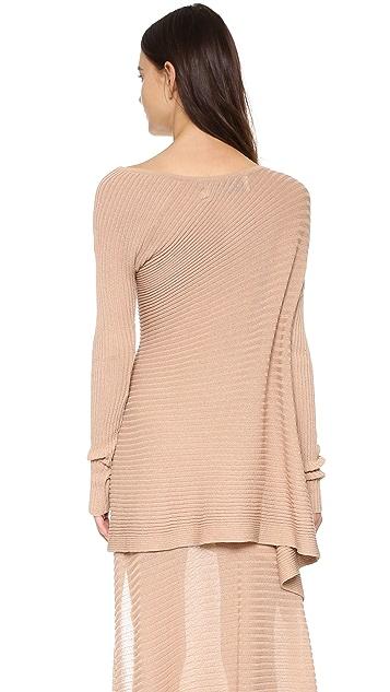Marques Almeida Deconstructed Off Shoulder Sweater