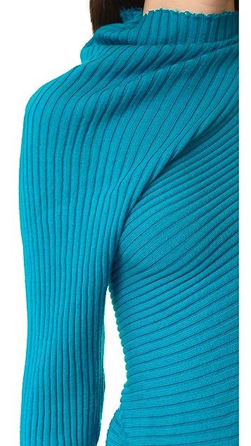 Marques Almeida Raw Edge Ribbed Sweater
