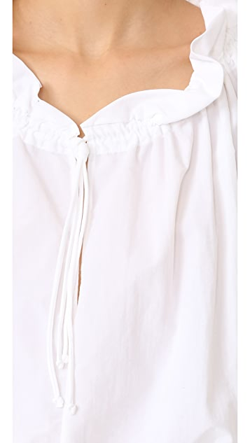 Marques Almeida Pirate Style Gathered Top