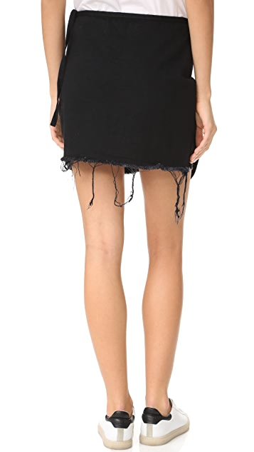 Marques Almeida Denim Knotted Mini Skirt