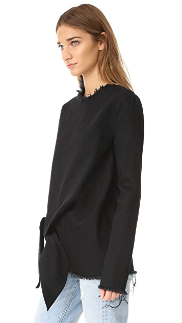 Marques Almeida Knotted Long Sleeve Top