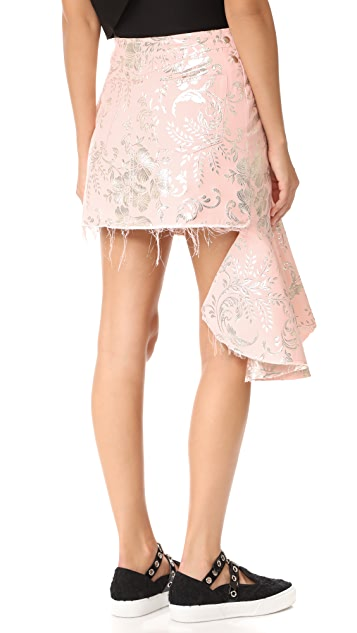Marques Almeida Brocade Wrap Skirt