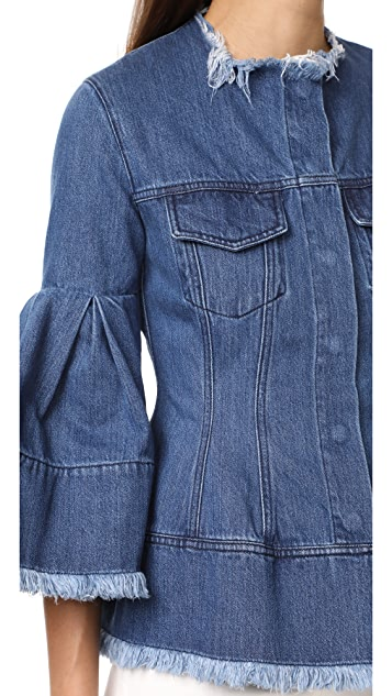 Marques Almeida Hip & Puff Sleeve Denim Jacket