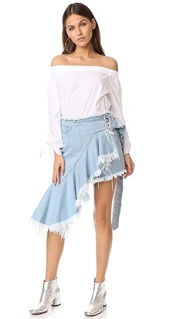 Marques Almeida Buckle Belt Skirt