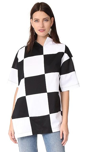 Marques Almeida Checkerboard Oversize T-Shirt