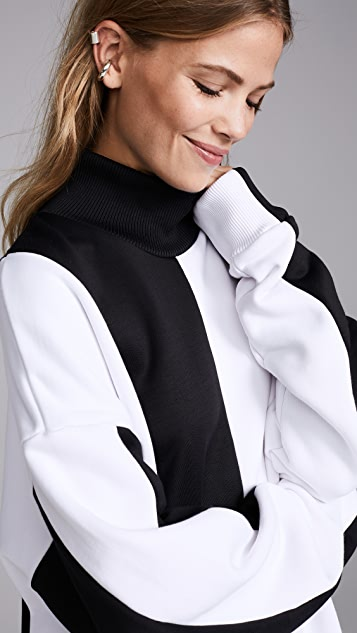 Marques Almeida Panelled Turtleneck Jumper