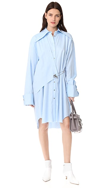 Marques Almeida Safety Pin Detail Shirtdress