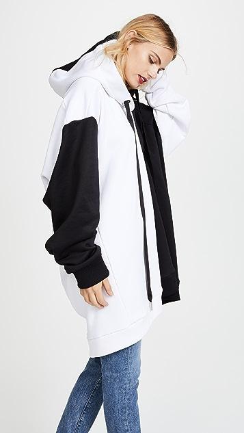 Marques Almeida Asymmetrical Oversized Hoodie