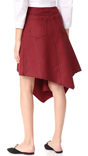 Marques Almeida Deconstructed Drape Front Skirt