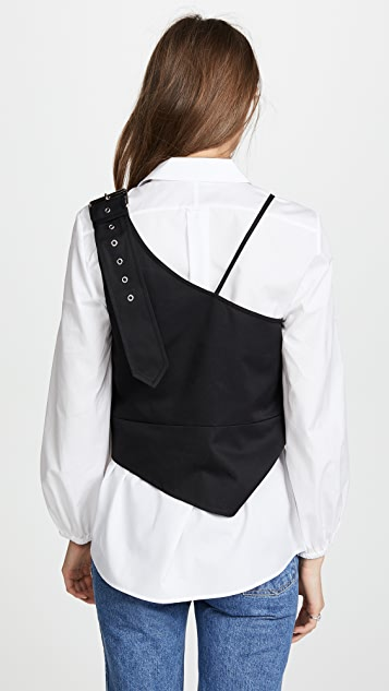 Marques Almeida Belt Strap Shoulder Top