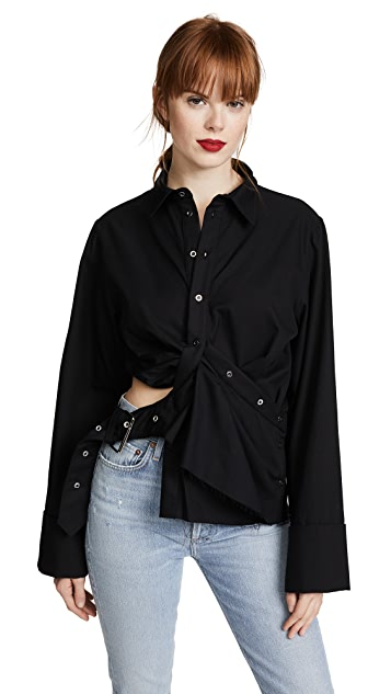 Marques Almeida Draped Cutout Top
