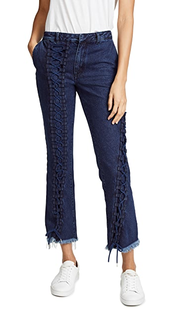Marques Almeida Lace Up Jeans