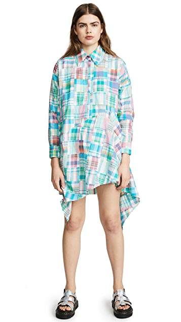Marques Almeida Asymmetrical Shirt Dress