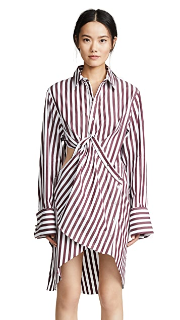 Marques Almeida Draped Cutout Shirt Dress