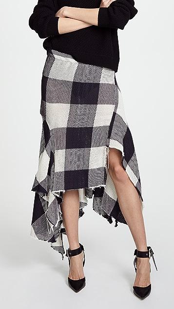 Marques Almeida Asymmetrical Draped Skirt