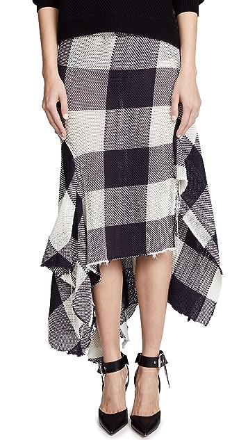 Marques Almeida Asymmetric Draped Skirt