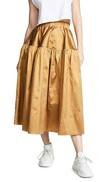 Marques Almeida Gathered Full Skirt
