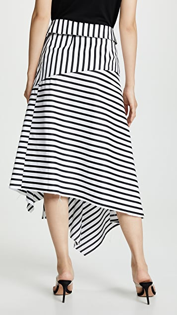 Marques Almeida Striped Wrap Skirt