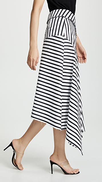 Marques Almeida Полосатая юбка с запахом