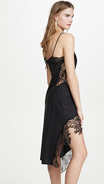 Marques Almeida Lace Neckline Slip Dress