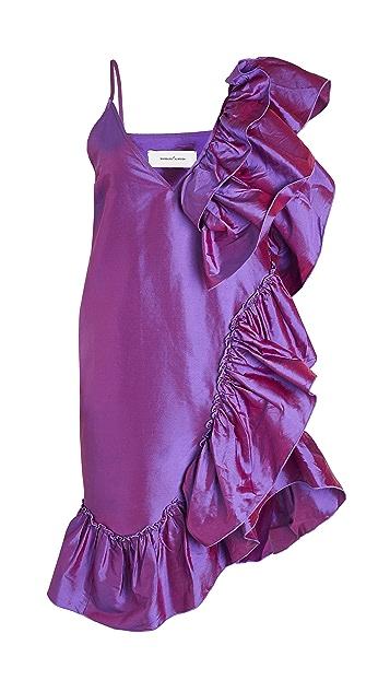 Marques Almeida Ruffle Slip Dress