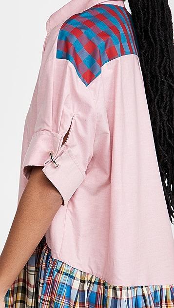 Marques Almeida Patchwork XXL Shirt