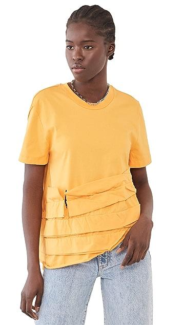 Marques Almeida Ripped Frill T-Shirt