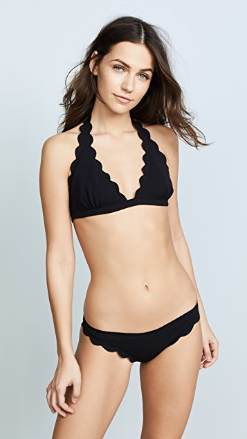 Marysia Swim Spring Scalloped Bikini Top - Black