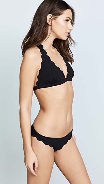 Marysia Swim Spring Scalloped Bikini Top