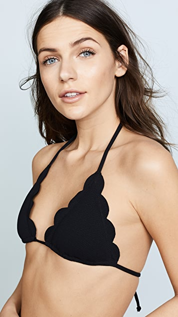 Marysia Broadway Scallop Bikini Top