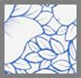 三角梅蓝色印花