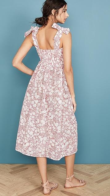 Marysia Присборенное платье Sicily