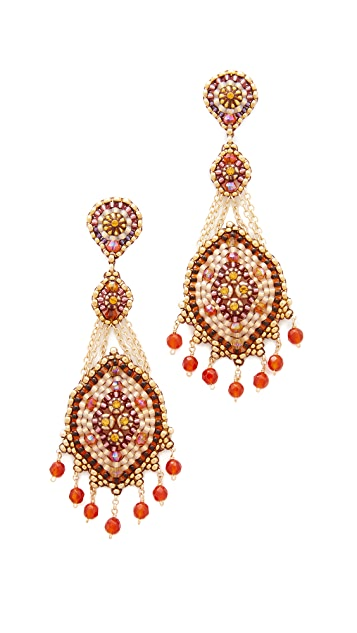 Miguel Ases 3 Tier Chandelier Drop Earrings
