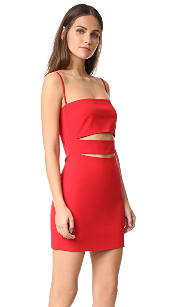 Michelle Mason Bandeau Strap Dress