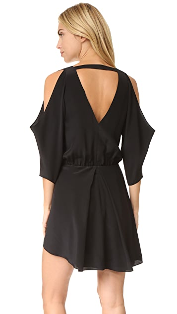 Michelle Mason Open Shoulder Mini Dress