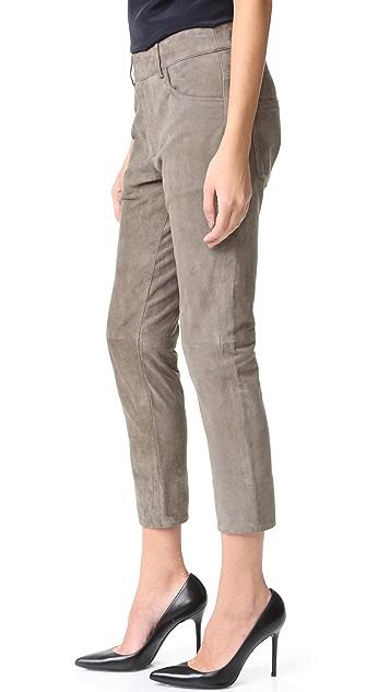Michelle Mason Suede Boyfriend Pants