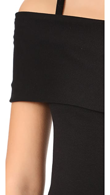 Michelle Mason Asymmetrical Strap Top