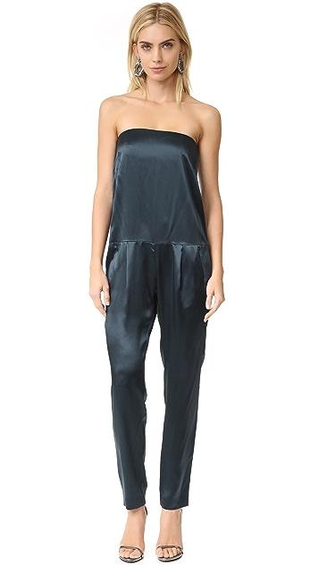 Michelle Mason Strapless Jumpsuit
