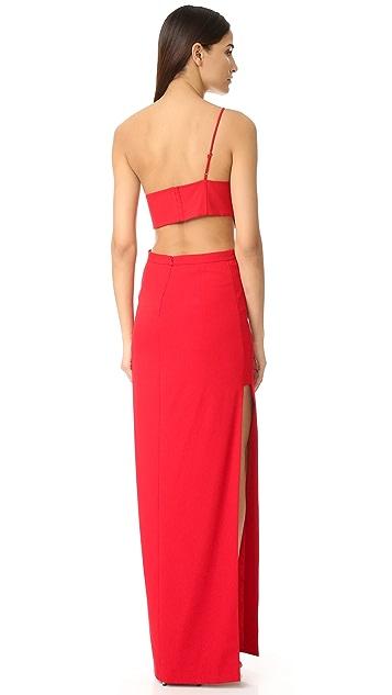 Michelle Mason Asymmetrical Bandeau Gown