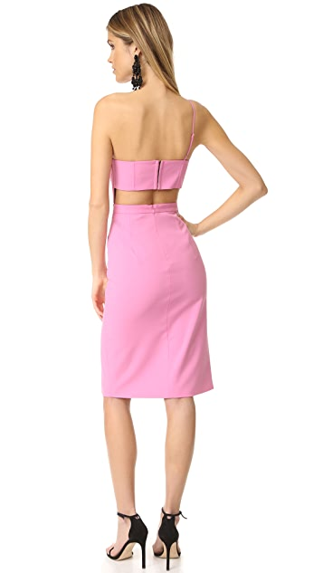 Michelle Mason Asymmetrical Bandeau Dress