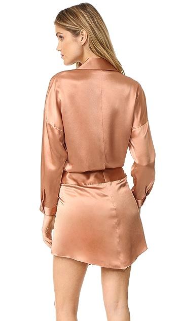 Michelle Mason Oversized Wrap Mini Dress