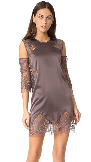 Michelle Mason Cold Shoulder Shift Dress